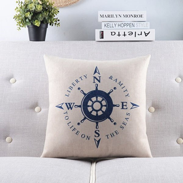 New Arrival Voyage Series--Helm and Directions Throw Pillow