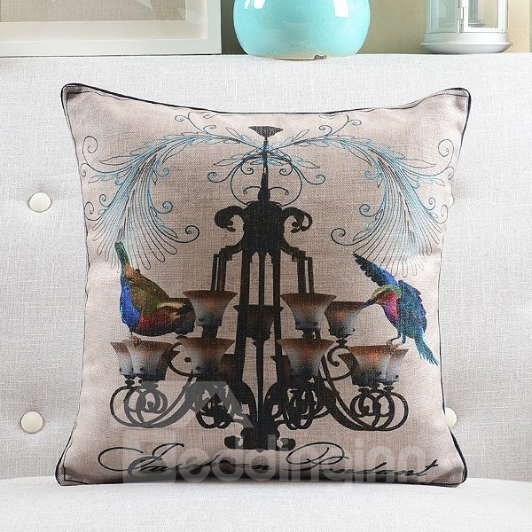 New Arrival Retro and  Classical Picture Printed Throw Pillow