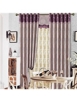 Contemporary Duplex Big Floral Printing Grommet Top Curtain