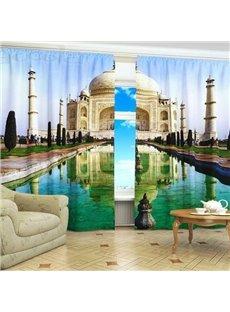 Beautiful Taj Mahal Print 3D Blackout Curtain