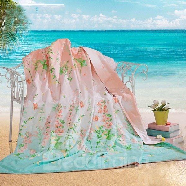 New Arrival Warm Spring with Blooming Flowers Quilt