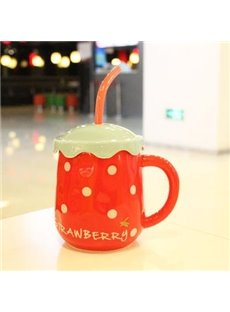 New Style Pretty Strawberry Creative Mug
