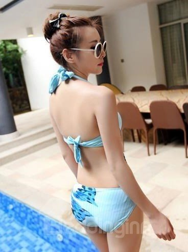 New Arrival 1 Piece Butterfly Pattern Open Back Monokini