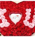 New Style 100 Pieces Soap Rose Flowers with 1 Lighting