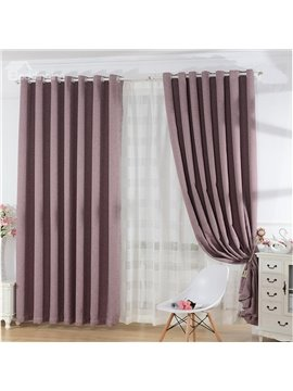 Cameo Brown Modern Elegant High Quality Grommet Top Curtain