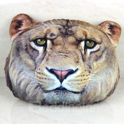 Creative Lion Head Pattern 3D Throw Pillow