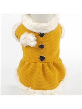 Autumn and Spring Orange Princess Dog Clothing