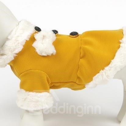 Autumn and Spring Orange Princess Dog Clothing