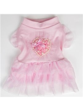 Top Quality Pretty Yarn Dress for Dog Clothing