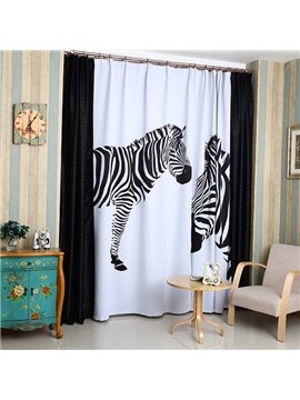 High Density Fabric Zebra Printed High Shading Degree Curtain