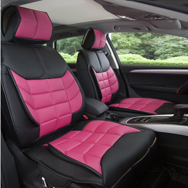 Color Block Sports Style And Cool Durable Grid Design Univeral Car Seat Cover