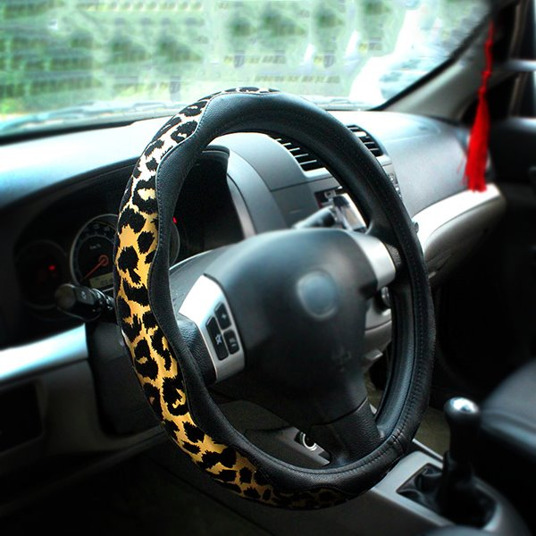 Fashionable And Beautiful Leopard Printed Steering Wheel Cover