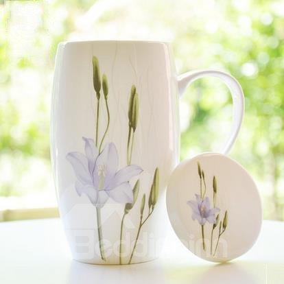 Elegant Pretty Purple Water Lily  Coffee Mug