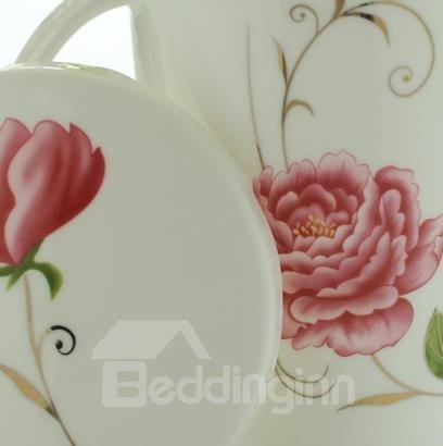 Amazing Elegant Flower Bone China Coffee Mug