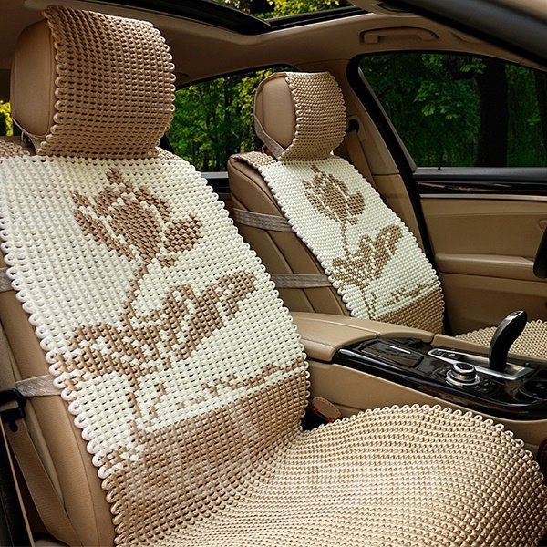 Handmade Cool Ice Silk Material China Flower Style Universal Car Seat Cover