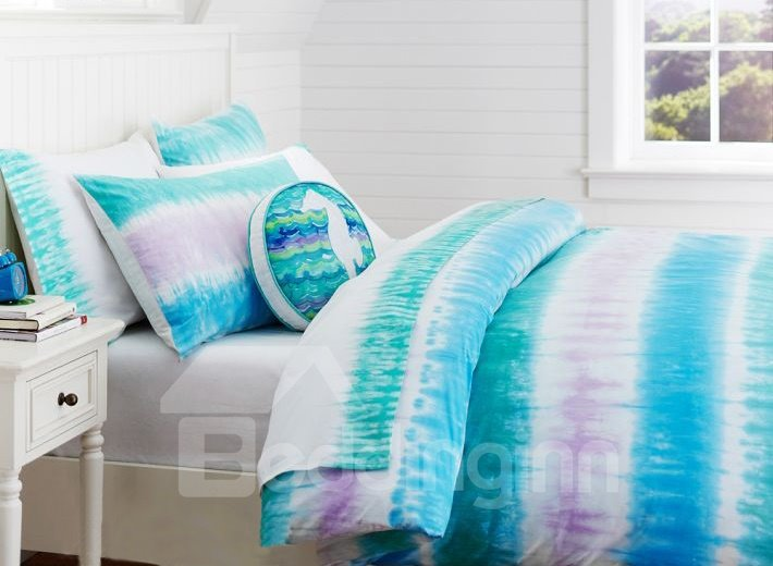 Dazzle Light Print 3-Piece Cotton Duvet Cover Sets