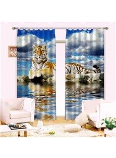 Amazing Lifelike Tiger Print Energy Saving 3D Curtain