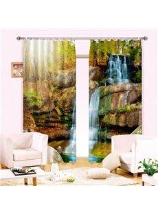 Beautiful Vivid Flowing Water Printing 3D Curtain