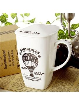 Wonderful Hot-Air Ballooning Bone China Coffee Mug