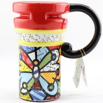 Top Quality Painted Ceramic Coffee Mug