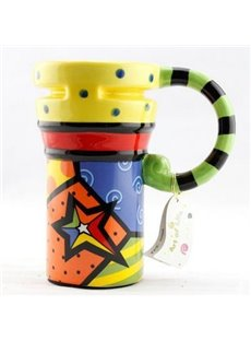 Top Classic Color Painted Ceramic Coffee Mug