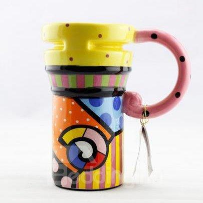 New Classic Bright Star Painted Ceramic Coffee Mug