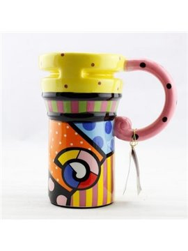 New Classic Bright Star Painted Ceramic Coffee Mug