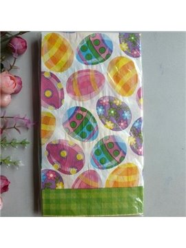 Top Selling Colorful Eggs Paper Napkin for Easter