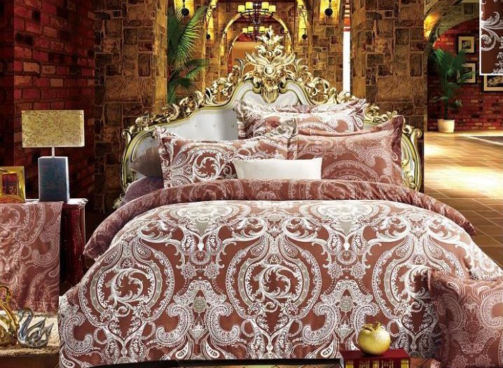 Luxury Paisley Print 4-Piece Polyester Duvet Cover Sets
