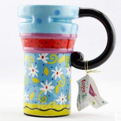 Wonderful Pretty Blue Ceramic Coffee Mug