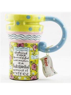 New Style Wonderful Color Painted Ceramic Coffee Mug