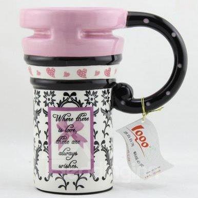 Wonderful Retro Art Color Painted Ceramic Coffee Mug