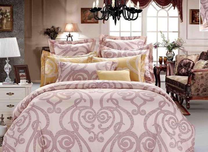 Courtyard Floral  Pattern 4-Piece Polyester Duvet Cover Sets