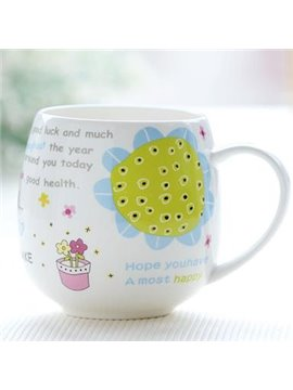 Fantastic Sunflower Bone China Coffee Mug