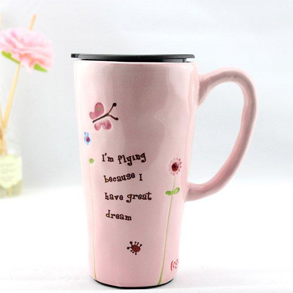 Beautiful Large Size Vanilla Yellow Ceramic Coffee Mug