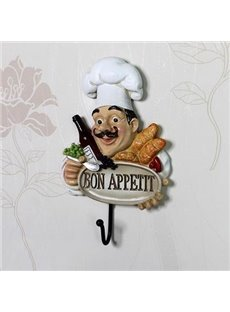 Top Classic Creative Resin Chef Wall Hook