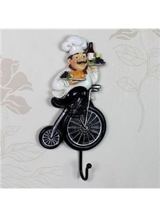 Wonderful European Style Creative Resin Chef Wall Hook