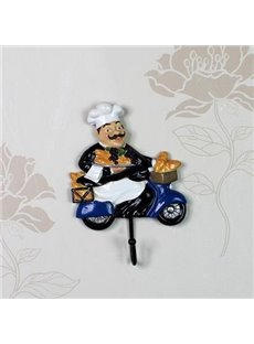 Popular Creative Resin Cool Chef Wall Hook