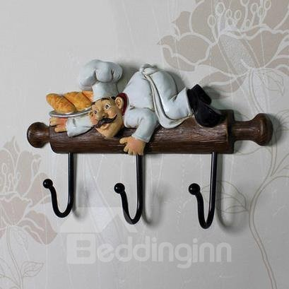 Wonderful Funny Chef Creative Resin Wall Hook