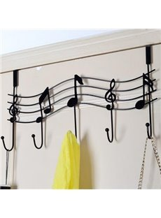 Fantastic European Style Iron Creative Musical Note Wall Hook