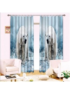 Hot Selling Amazing Polar Bear Printed Energy Saving 3D Curtain