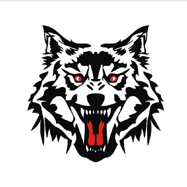 58 vivid fierce wolf head pattern design car sticker