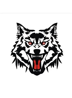 Vivid Fierce Wolf Head Pattern Design Car Sticker