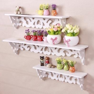 European Style Pine Particle Templet Wall Shelves
