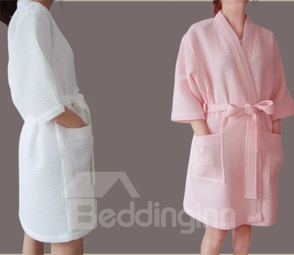 High Class Sexy Cotton Half  Sleeve Bathrobe