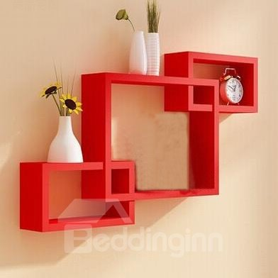 Cheap Classic 3-Piece Rectangular Wood Wall Shelves