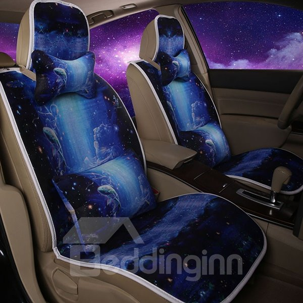 Constellation Series Creative Pisces Printing Car Seat Covers