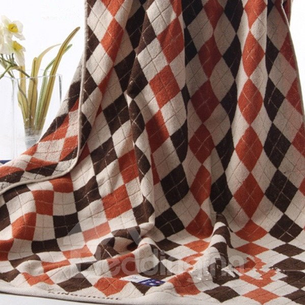 Top Selling Pure Cotton Large Size Englon  Lattice Bath Towel