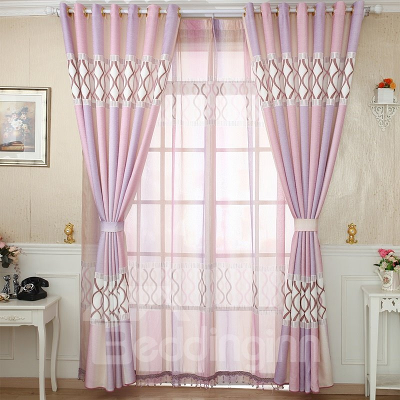 Mediterranean Style Elegant Design Custom Grommet Top Curtain