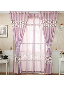 Mediterranean Style Elegant Design Custom Grommet Top Curtain